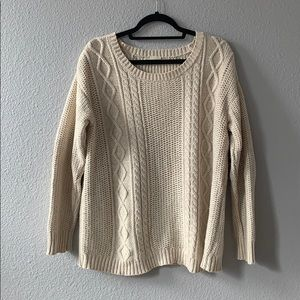 Urban cream cable knit sweater